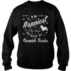 I AM HAPPIEST WHEN I AM WITH MY NORWICH TERRIER CREW SWEATSHIRTS TEE (==►Click To Shopping Here) #i #am #happiest #when #i #am #with #my #norwich #terrier #crew #sweatshirts #Dog #Dogshirts #Dogtshirts #shirts #tshirt #hoodie #sweatshirt #fashion #style