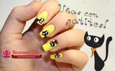 Tutorial de Uñas decoradas con gatitos paso a paso | Decoración de Uñas - Manicura y Nail Art