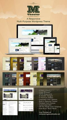 The M THEATER WordPress Theme is a responsive, customizable and search engine optimized HTML5 and CSS3 theme.
