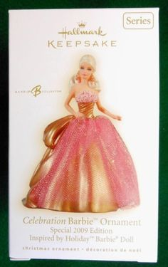 Hallmark Keepsake Ornament; Celebration Barbie. 2009.