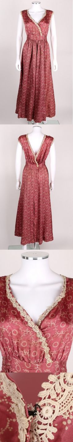 """Patterned Pink Silk Jumper/Pinafore Dress, circa 1916 via eBay 