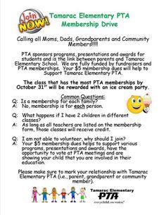 PTA Membership Campaign Ideas | Teacher Appreciation/ PTA ...