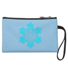 Blue Snowflake2 Sueded Mini Clutch by #MoonDreamsMusic #SuededMniClutch #ClutchBag #BlueSnowflake