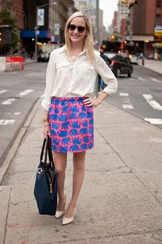 Preppy Pink Shop Skirts for Celebrations in Tribeca - Kelly in the City