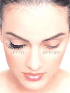 Ambiance~ Eye lash extensions; This bride has on eye makeup but note the eye on your right is before the lash extensions and on your left is with the eyelash extensions~ (Photo Credit: weddingbee.com) (410) 819-0046 www.maryannjudy.com
