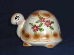 Vintage Ceramic Turtle String Holder and Dispenser by ChromaticWit, $11.99