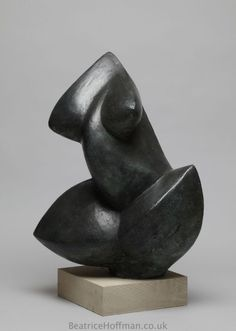 Beatrice Hoffman   Abstract Torso   Bronze resin torsos sculpture   Minimalist modern nude statue   £2250