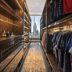 Top 100 Best Closet Designs For Men - Part Two Bedroom Built Ins, Master Bedroom Closet, Walk In Closet Design, Closet Designs, Modern Closet, Closet Lighting, Luxury Closet, Room Ideas Bedroom, House Layouts