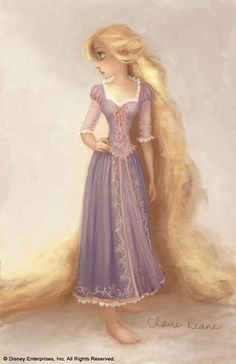 Claire Keane's concept art for Tangled