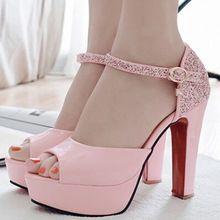 CX9140 Frete grátis tamanho grande das Mulheres sandálias das mulheres do dedo do pé aberto 12 cm de salto alto grosso sandálias da plataforma sapatas do verão das mulheres sandálias(China (Mainland))