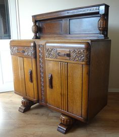 Art Deco Oak Sideboard SideboardArt DecoDining Room