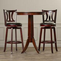 Look what I found on Wayfair! Pub Table SetsPub ... & Linon 3-Piece Tavern Set Espresso Tavern Set Upholstered Table Set ...