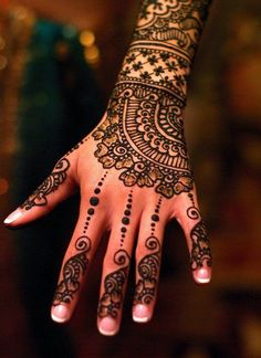 henna like lace gloves