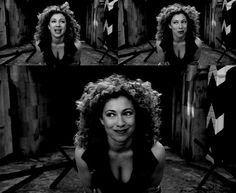 Tip for you all? Never shoot a girl while she's regenerating. ;) Can we just take a minute to appreciate Alex Kingston's amazing cleavage here?