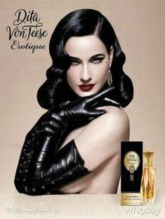 Erotique Dita Von Teese perfume - a fragrance for women 2013 Dita Von Teese Perfume, Dita Von Teese Burlesque, Dita Von Teese Style, Lingerie Cuir, Lacy Lingerie, Dita Von Tease, Idda Van Munster, Look Vintage, Dominatrix