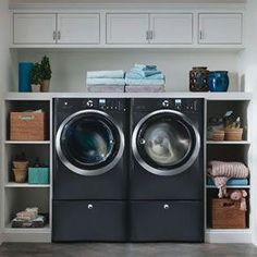 Browse laundry room ideas and decor inspiration for small spaces. Custom laundry rooms and closets, including utility room organization & storage ideas. Laundry Storage, Room Design, Room Organization, Basement Laundry Room, Closet Storage, Laundry Room Storage, Small Storage, Laundry, Room Storage Diy