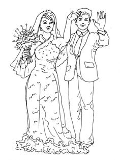 Gratis Kleurplaten Trouwen.74 Beste Afbeeldingen Van Kleurplaten Bruiloft Coloring Book