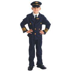 Comprar Disfraz de Piloto Comandante de Aviación para niños de 4 a 12 años.