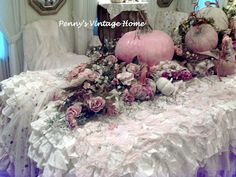 Penny's Vintage Home: Pink and White for Fall? Of course!!