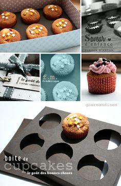 DIY Cupcake Holder & Box (w/ pattern)