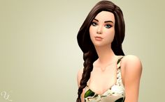 Braid Loose Hair Retexture and Recolors by VixelLab 4 Braids, Loose Braids, Side Braids, Side Braid Hairstyles, Loose Hairstyles, Sims 4 Get Together, Casual Braids, Cute Everyday Hairstyles, Sims 4 Blog