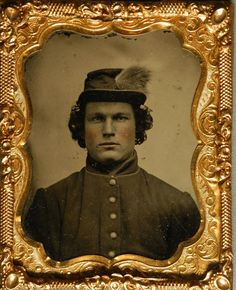 +~+~ Antique Photograph ~+~+  Photograph of Bucktail Robert Valentine who fought valiantly during the Civil War and survived.  June 1864
