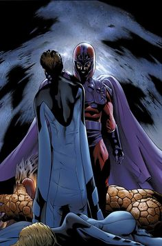 Magneto vs. Fantastic Four.