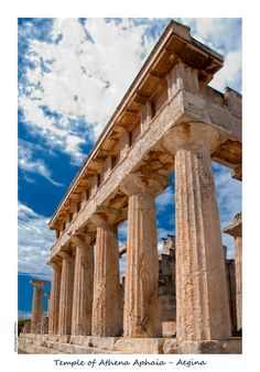 The Temple is at the same distance from the Acropolis of Athens and from the Temple of Poseidon in Sounium. The three Temples of Parthenon, Poseidon and Aphaea form an imaginary equilateral triangle.  (http://www.goddess-athena.org/Museum/Temples/Aphaea/index.htm)