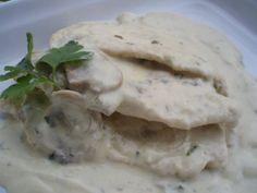 Dietas para adelgazar: Menú de dieta: Pollo con salsa de champiñones