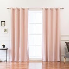 Best Home Fashion 84 in. L Solid Cotton Blend Blackout Curtains Pink - The Home Depot Curtains Behind Bed, Tab Top Curtains, Rod Pocket Curtains, Thermal Curtains, Grommet Curtains, Blackout Curtains, Drapes Curtains, Curtain Panels, Have A Good Sleep