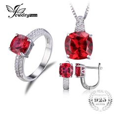 Created Ruby Ring Necklace Clip Earring Jewelry Set 925 Sterling Silver Jewelry Set Fine Jewelry for Women    110.96, 61.99  Tag a friend who would love this!     FREE Shipping Worldwide     Get it here ---> http://liveinstyleshop.com/jewelrypalace-created-ruby-ring-necklace-clip-earring-jewelry-set-925-sterling-silver-jewelry-set-fine-jewelry-for-women/    #shoppingonline #trends #style #instaseller #shop #freeshipping #happyshopping