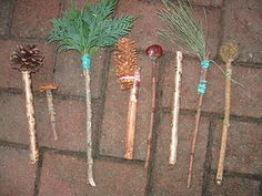 Make your own Autumn Paintbrushes