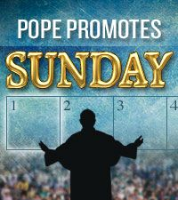 Pope Francis recently discouraged people from working on Sundays, speaking of the day as a traditional Christian holiday. Is this custom found in the Bible?