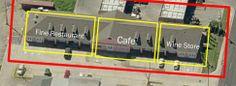 10,464sf building has three separate spaces