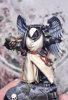 Legion Characters, Dark Angels 40k, Warhammer Models, War Hammer, Mini Paintings, Warhammer 40000, Space Marine, Marines, Sci Fi