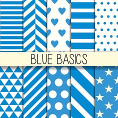 Blue patterns  Printable background Instant by babushkadesign