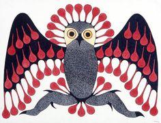 Owl Transforming by Kenojuak Ashevak, Inuit artist (G203026)