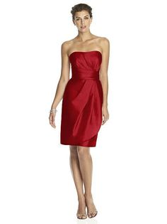 Alfred Sung Garnet D602 Bridesmaid Dress Size 00 Knee Length   NWT MSRP $190 #ALFREDSUNG #FitandFlare #Cocktail