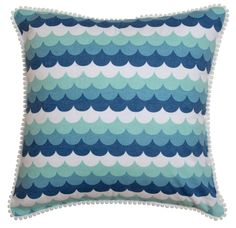 Oasis cushion cover in the sea fabric Shop now at www.hardtofind.com.au