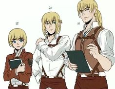 Armin growing up as an adult. He will become the new survey corps commander