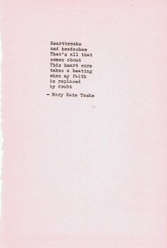 Typewriter poem #27 | Mary Kate Teske