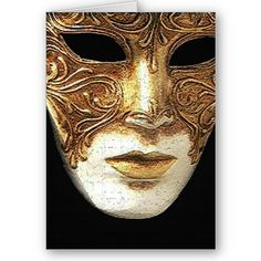 Gilded Mask Greeting Card from www.zazzle.com/stevebrownleeart