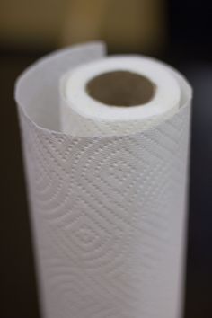 Cut with electric knife first three or four inches of paper towel roll and use small for small jobs. Great way to conserve resources. Paper Towel Tubes, Paper Towel Rolls, Paper Towels, Rope Shelves, Wooden Shelves, Life Hacks, Frugal Tips, Housekeeping, Good To Know