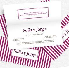 Purple - Bodas: Invitación de diseño clásico, es perfecta para ese día tan especial.