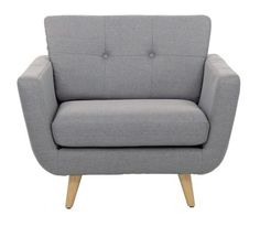 Fauteuil Lewis Stoff Grau Satndfüße Holz Polsermöbel im kika Online-Shop Vienna Apartment, Sofas, Love Seat, Armchair, Ikea, Couch, Living Room, Furniture, App