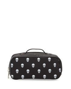 Skull-Print Toiletry Bag, Black by Robert Graham at Neiman Marcus Last Call.