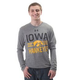 Iowa Hawkeye Triblend Long Sleeve by Under Armour