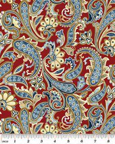 """Amazon.com: Benartex Star-Spangled Bandanna Quilt Fabric Fat Quarter: 18""""x22"""" @ $2.85."""