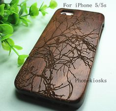 Natural Wood iPhone 5s Case iPhone 5 Case  Engraved by PhoneKiosks
