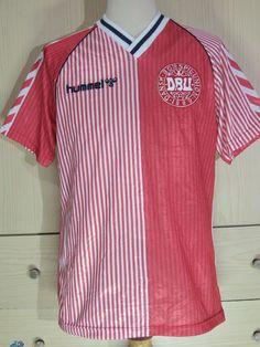Denmark World Cup 1986 Hummel Football Shirt Home Vintage Soccer Jersey L | eBay